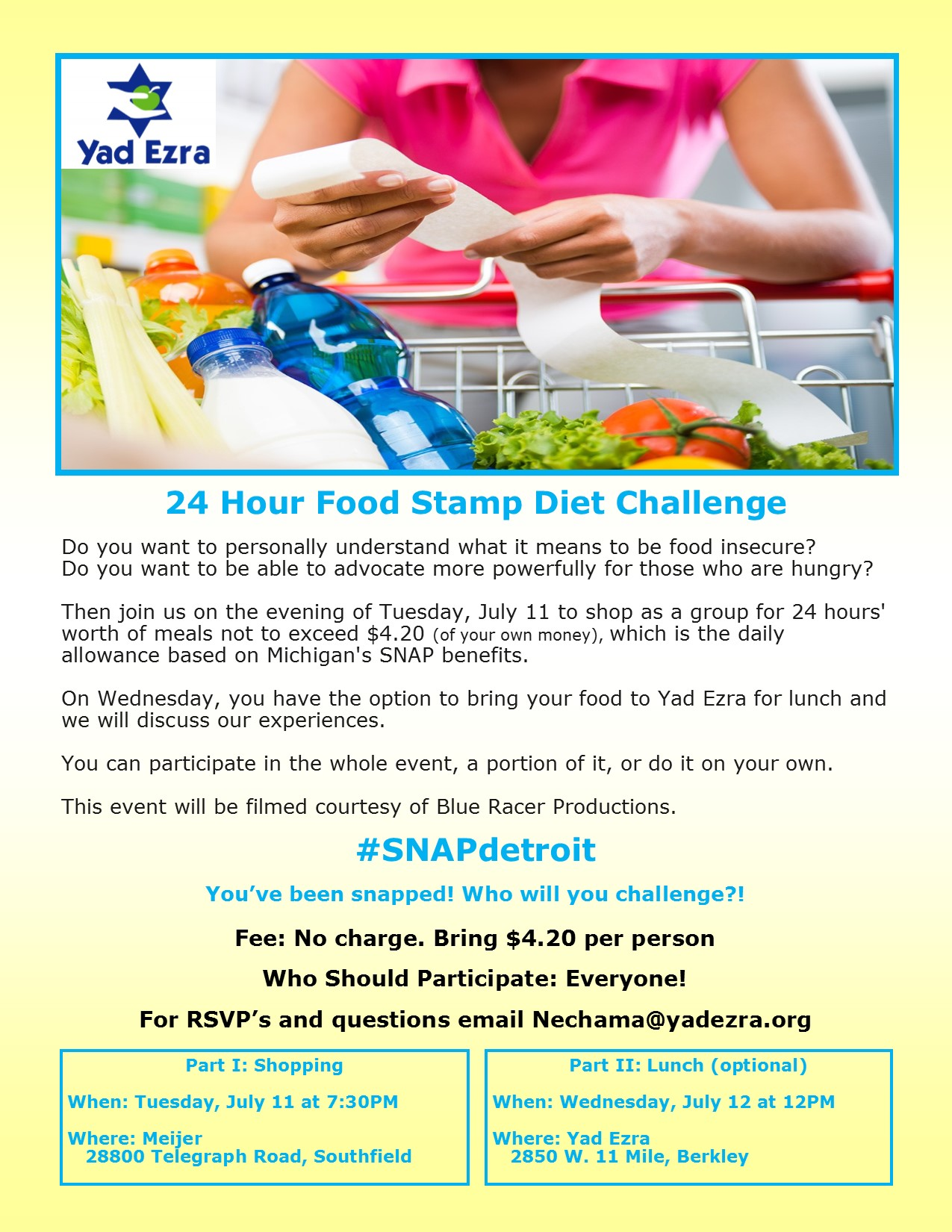 24 Hour Food Stamp Challenge