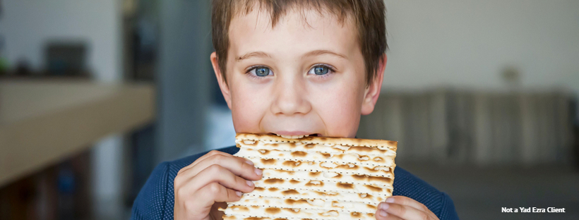 Boy Eating Matzah